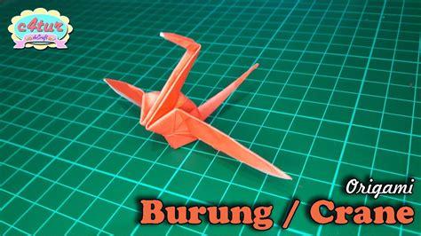 youtube tutorial origami burung origami burung crane youtube