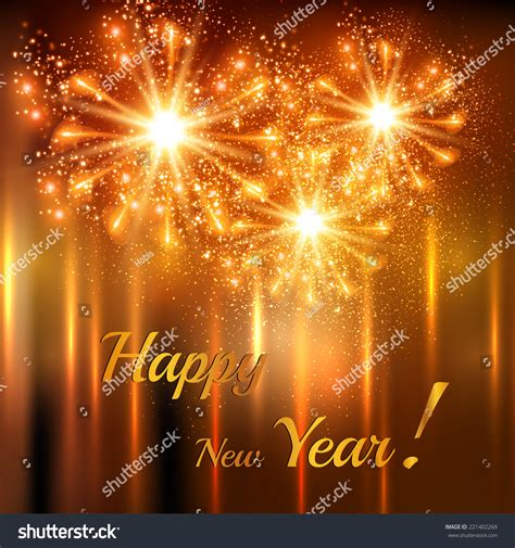 happy new year celebration background easy stock vector