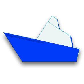bootje vouwen vierkant papier boot 4 makkelijk origami voor kinderen