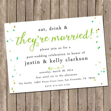 Post Wedding Celebration Invitations our favorite post wedding brunch invitations