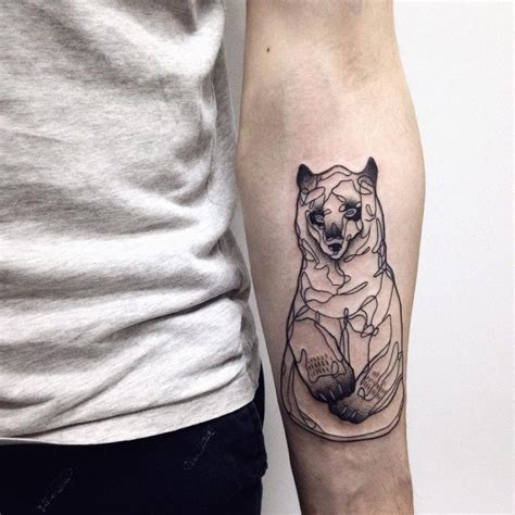 bear outline tattoo attractive outline creativefan