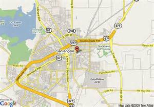 where is san angelo on the map map of quality inn suites san angelo