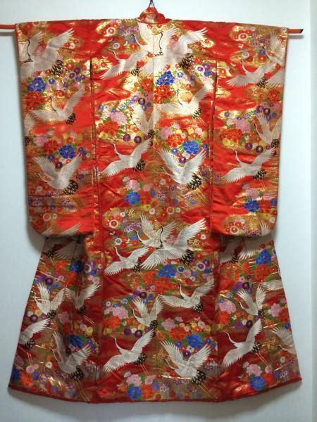 Wst 18368 Flower Kimono Outer kimono dress blue uchikake crane floral