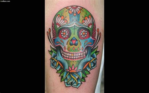 colorful skull tattoo designs 50 amazing animated design photos golfian