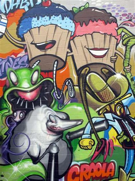 Trippy Wall Murals 20 cartoon graffiti wall picture graffiti tutorial