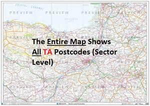 ta postcode map