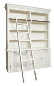 bookcase with ladder antique white or black