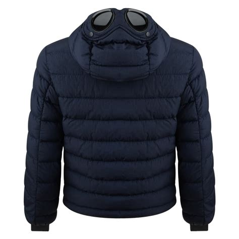 Cp Jaket cp company boys navy hooded padded jacket with goggle detail cp company from chocolate clothing uk