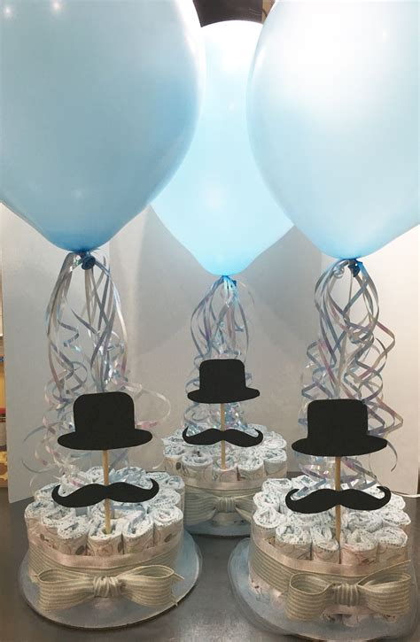 Mustache Themed Baby Shower by Centerpieces Made To Order For A Mustache Themed