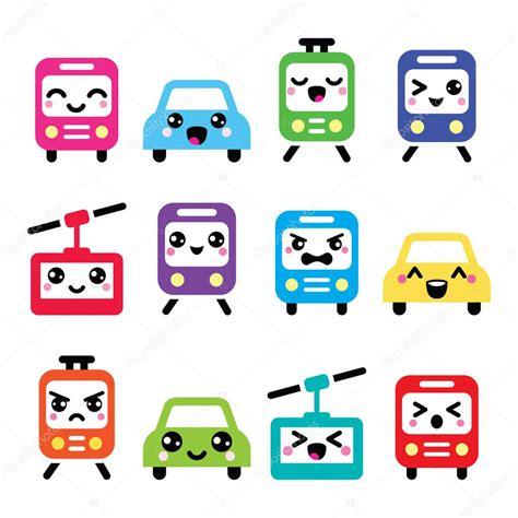 imagenes de iconos kawaii iconos cute kawaii coche autob 250 s tren tranv 237 a y