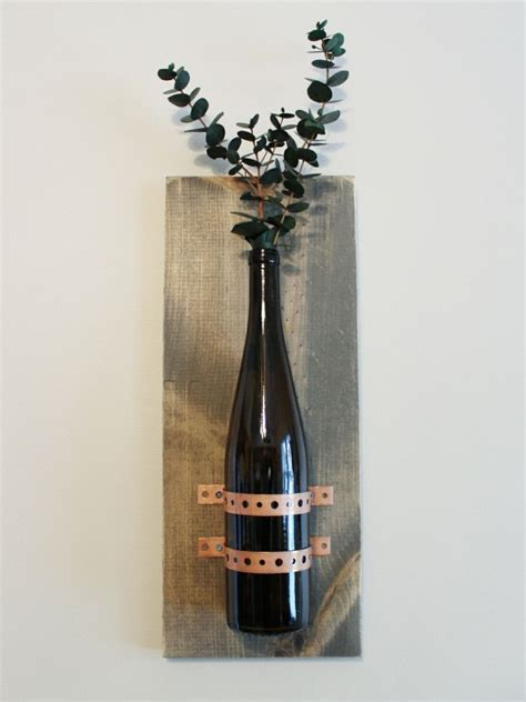 turning wine bottles into rustic chic wall decor hometalk