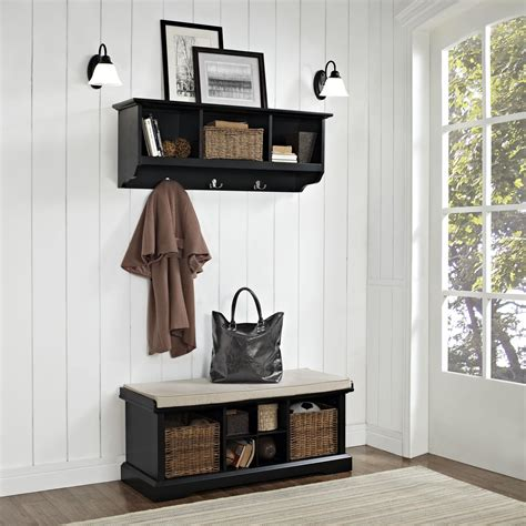 bench and shelf set brennan 2 piece entryway bench and shelf set ojcommerce