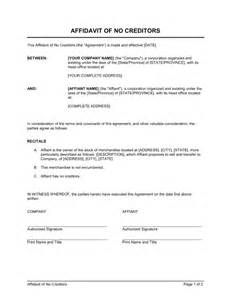Template Of Affidavit by Affidavit Template Helloalive