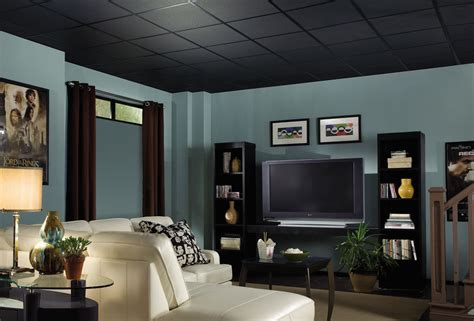 The Black Ceiling by Fissured Homestyle Ceilings Textured Black 2 X 2