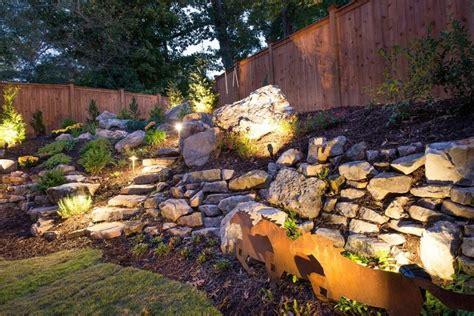rock garden lights 75 brilliant backyard landscape lighting ideas 2019