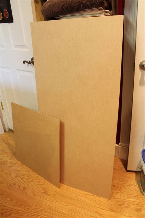 start with 1 8th or 1 4 inch mdf board home depot carries