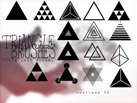 triangle pattern brush photoshop triangle brushes abr by stoleyourdreams on deviantart