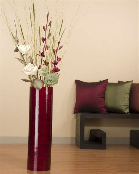 large floor vase with flowers home