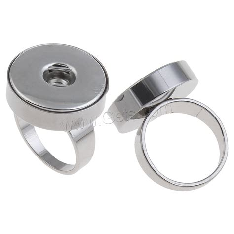 zinc alloy noosa snap ring setting flat platinum color plated lead cadmium free us ring