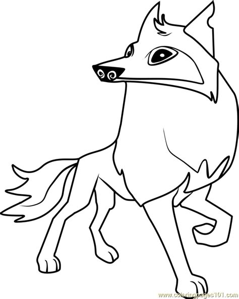 Coloring Pages For Animal Jam | arctic wolf animal jam coloring page free animal jam
