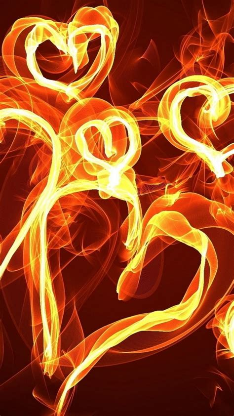 hearts  fire love art wallpaper  desktop