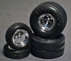 1 25 Scale Model Truck Wheels And Tires 1 25 Scale Model Car Parts Junk Yard Firestone Pro
