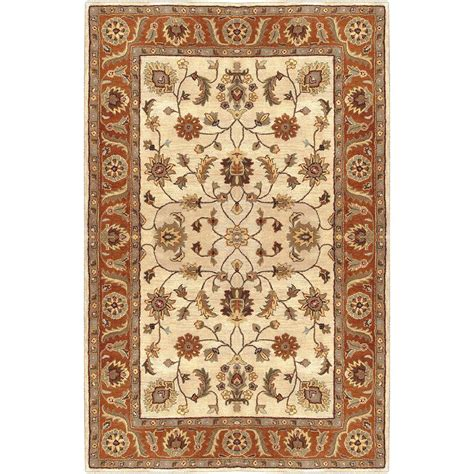 Chemical Free Area Rugs by Artistic Weavers Morsse Golden Beige Wool 10 Ft X 14 Ft