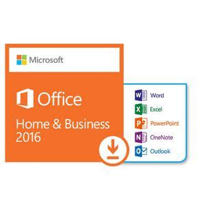 office home and business 2016 microsoft office home and business 2016 1 pc download