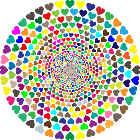 Color For Office by Clipart Colorful Hearts Vortex 2