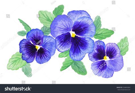 Anting Flower Petals Violet Soft Purple purple violet pansy flower design stock illustration