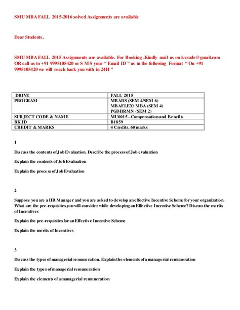 Mba 281 Csus Syllabus by Mu0015 Compensation And Benefits