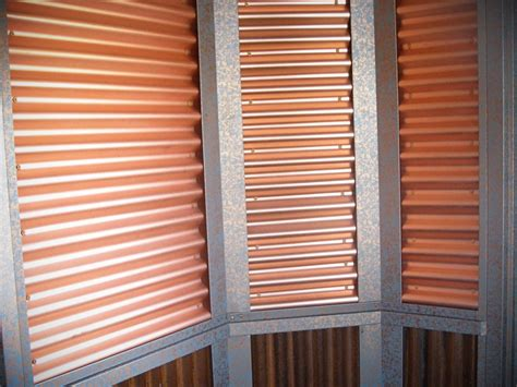 corrugated steel panels  interior walls bridger steel