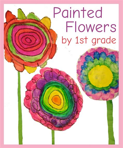 pattern art activities for first grade flower paintings by first grade learn about van gogh and