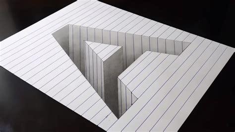 tutorial gambar 3d art cara menggambar 3d di kertas dengan pensil untuk pemula