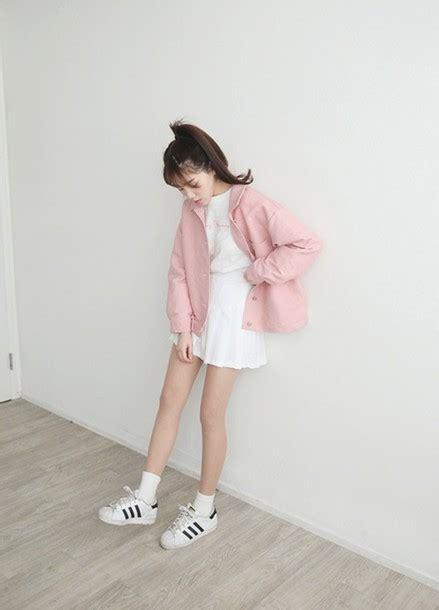Penbaju Winter jacket pink pink jacket pastel pastel pink kfashion asian fashion
