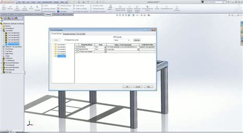 solidworks 2013 tutorial simple animation youtube how to create a simple table with solidworks weldments