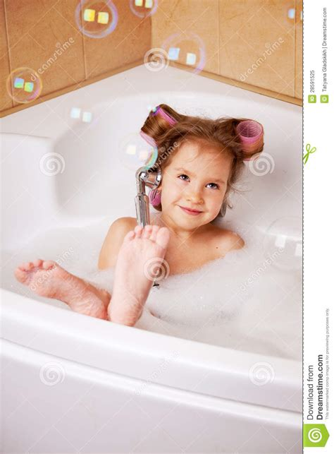 one girl one bathtub little girl in the bathtub royalty free stock photo