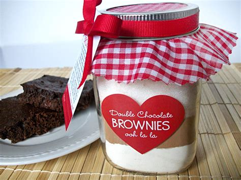 diy brownie mix   jar decoration kit mason jar gifts
