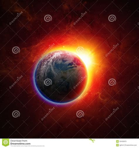 earth wallpaper changing time planet earth in space stock photo image 32420870