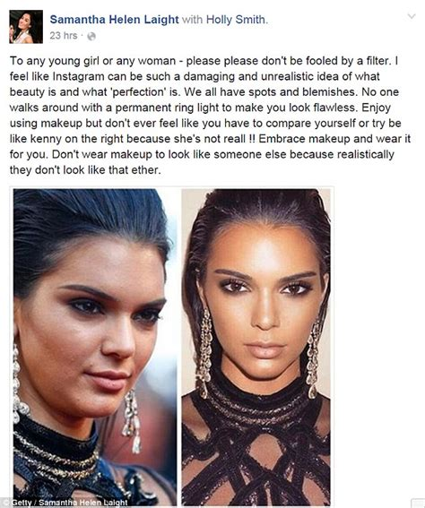 uk celebrities on facebook facebook post sees woman urge young girls not to compare