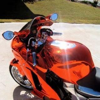 motorcycle kit chrome paint