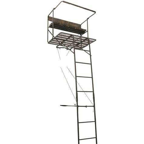 guide gear 17 1 2 deluxe 2 man hunting ladder tree stand