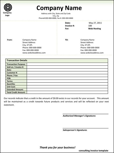 Consultant Invoice Template Word by Microsoft Word Consulting Invoice Template Word