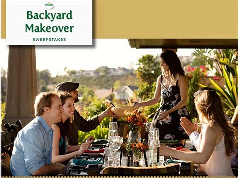 backyard makeover sweepstakes boursin backyard makeover instant win game and sweepstakes