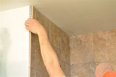 bathroom shower materials finishing tile edges walls tile design ideas