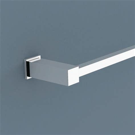 Caroma Bathroom Accessories Caroma Quatro Bathroom Accessories Bath Single Towel Rail 900mm Square