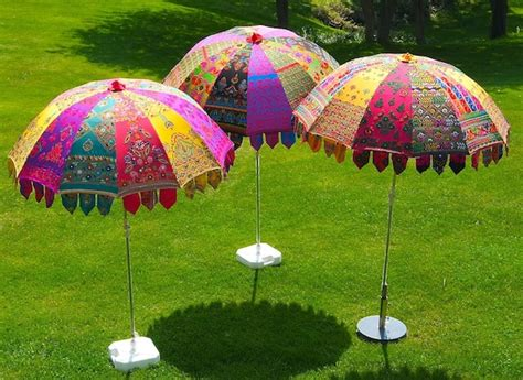 indian garden parasols made in jaipur of colourful
