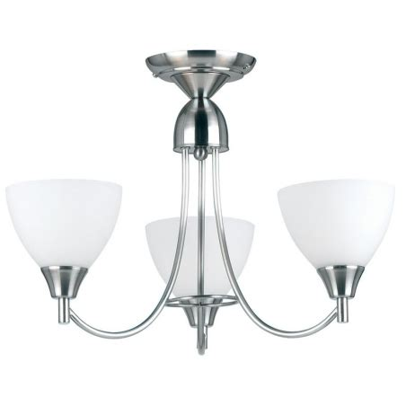 ceiling light 3 arm matching endon 1805 3sc 3 light ceiling light satin chrome
