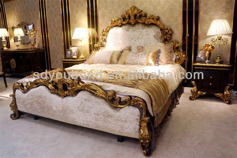 0063 2014 italy design wooden carving royal bedroom