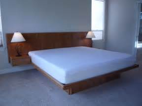 King Size Bed Frame Headboard Enjoyable Bedroom Furniture Use Solid Headboard Size Floating Platform Bed Set And Tender